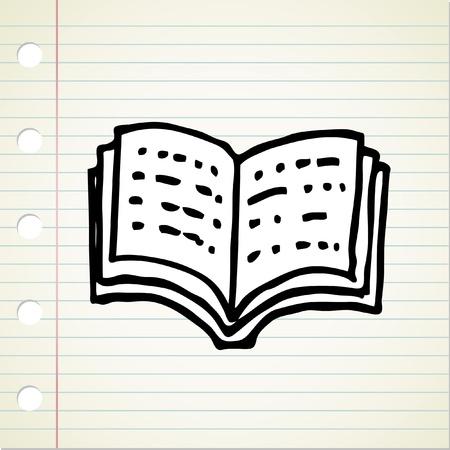 doodle open book Vector
