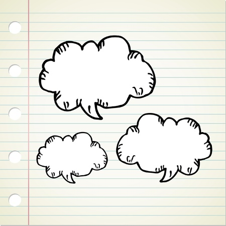 doodle bubble speech Vector