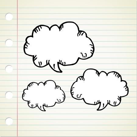 doodle bubble speech Stock Vector - 12414903