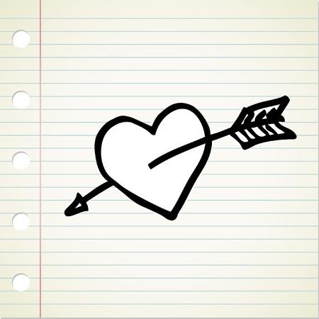 heart clipart: doodle heart Illustration