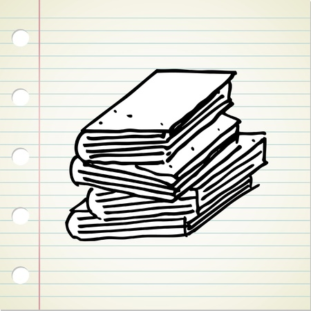 stack of vintage book Vector