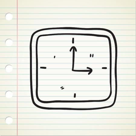 clock doodle Stock Vector - 12907470