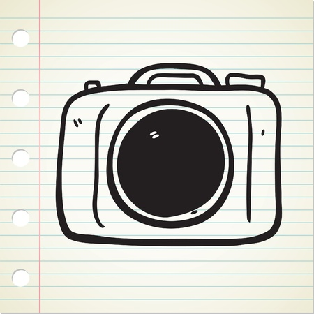 camera doodle Stock Vector - 12907472