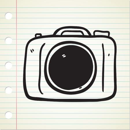 camera doodle Stock Vector - 12907472