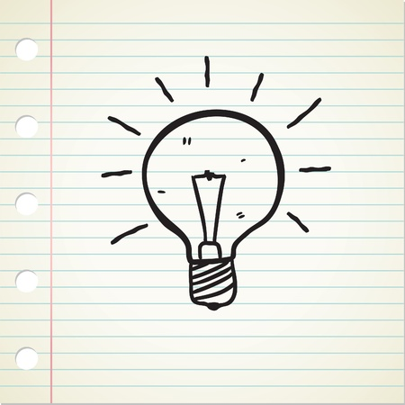 simple line drawing: bulb doodle