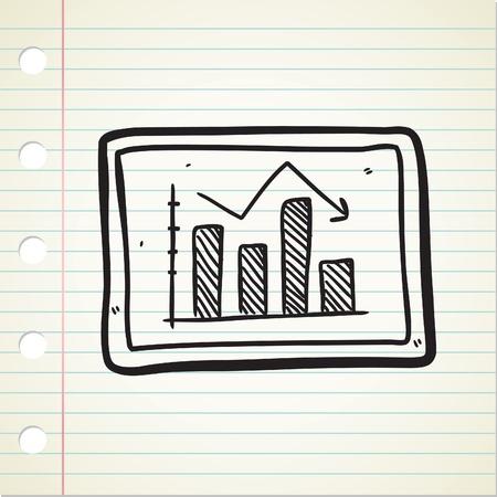bearish business: bearish trend chart in doodle style