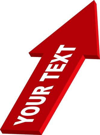 sales trend: 3d profit arrow sign Illustration