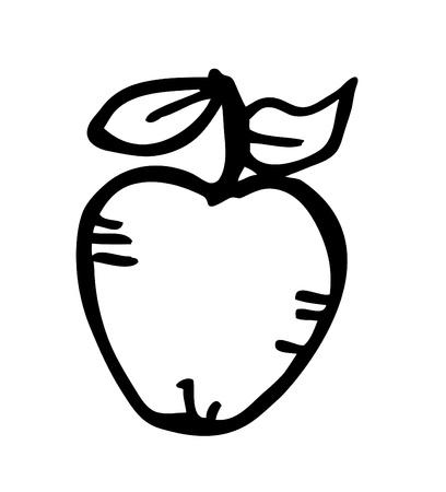 apple doodle Vector