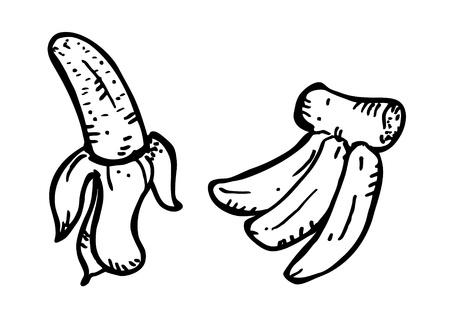 peeled banana: banana doodle