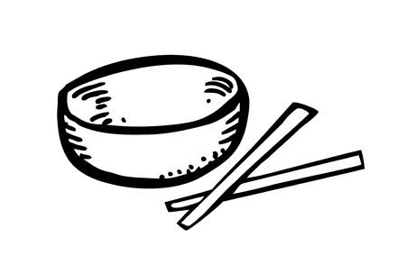 nutritive: bowl and chopstick