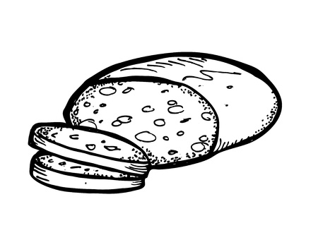bread doodle Stock Vector - 13101730