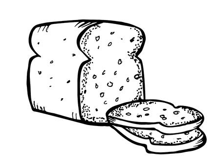 food clipart: bread doodle