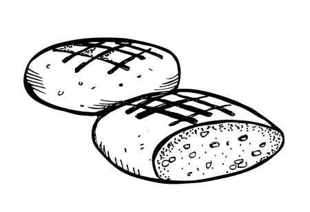 bread doodle Stock Vector - 13101787