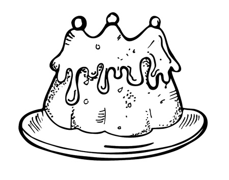 cake doodle Vector