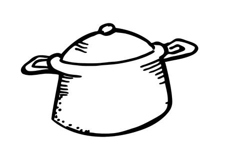 Kochgeschirr doodle Vektorgrafik