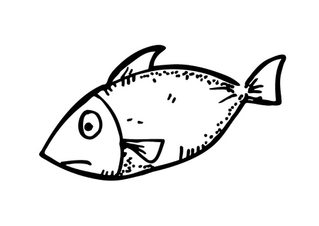 fish meat doodle Vector
