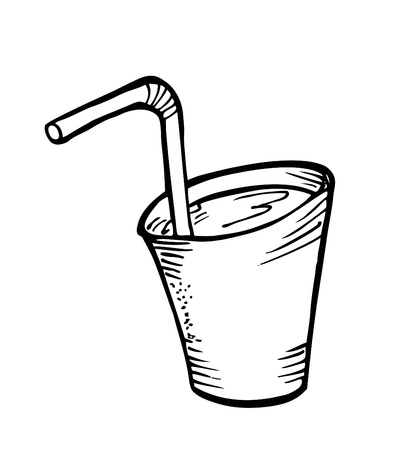 glass of water doodle