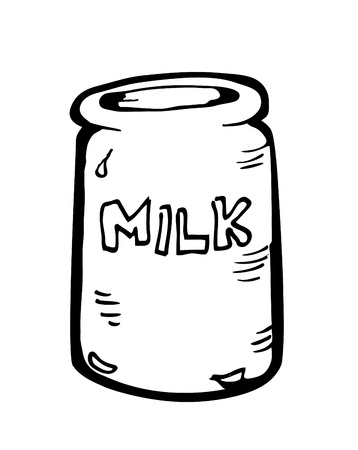 soda can: milk can doodle Illustration