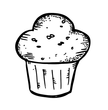 muffins: muffin doodle Illustration