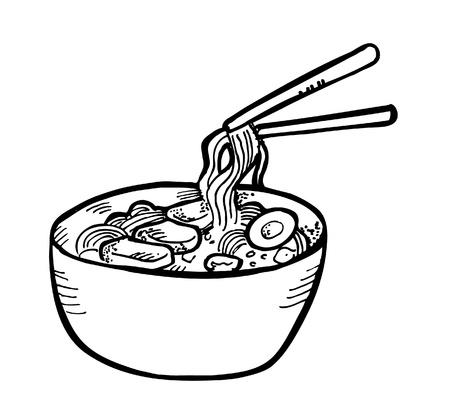 meat soup: ramen doodle
