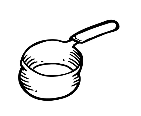 fry pan doodle Stock Vector - 13101654