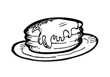pancake doodle Stock Vector - 13101716