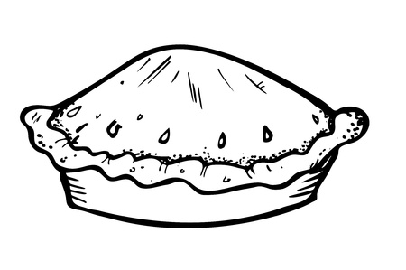 draw a sketch: pie doodle Illustration