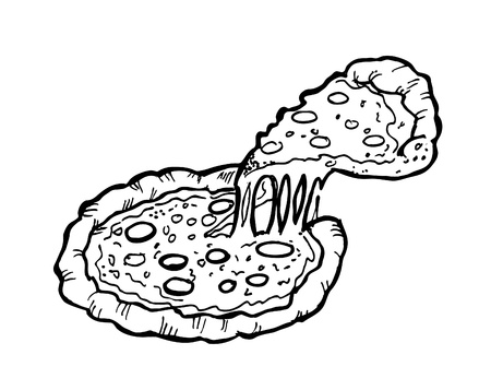 ham and cheese: pizza doodle