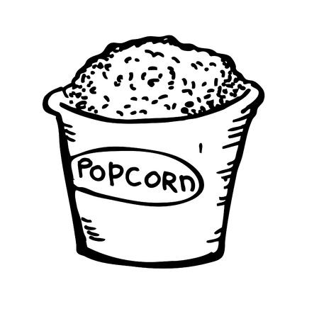 salty: pop corn doodle Illustration