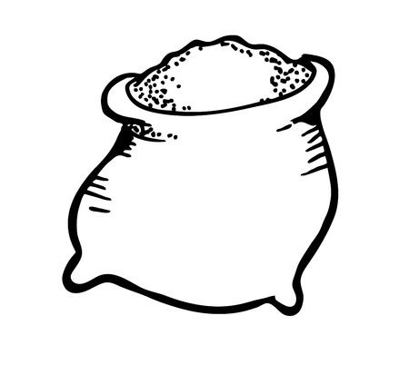 hand bag: saco de az�car dibujo