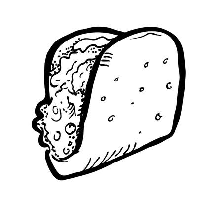quick snack: sandwich doodle Illustration