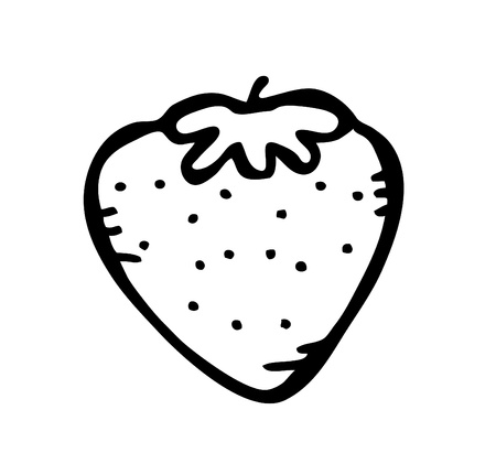 quick drawing: strawberry doodle Illustration