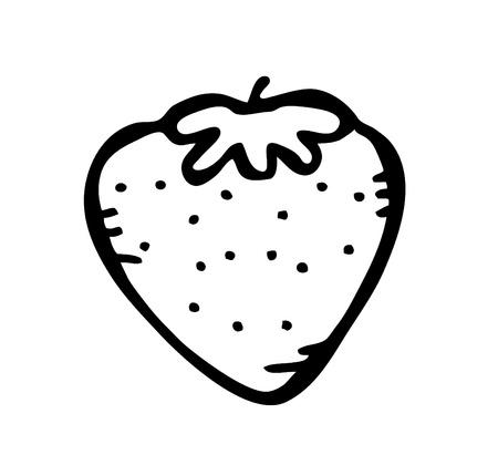 strawberry cartoon: strawberry doodle Illustration