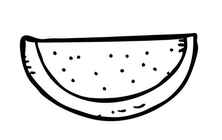 watermelon slice doodle Stock Vector - 13099797