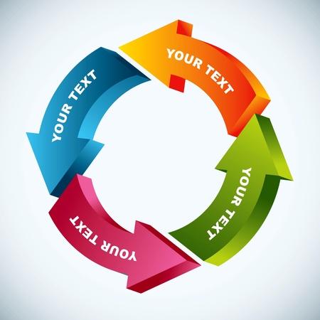 flujo: diagrama de flujo de trabajo Vectores