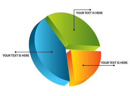 camembert graphique: Diagramme circulaire 3d