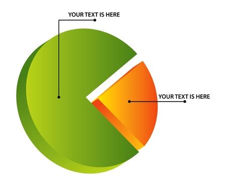 pie chart: 3d pie diagram