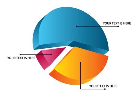 3d pie diagram Stock Vector - 13101855