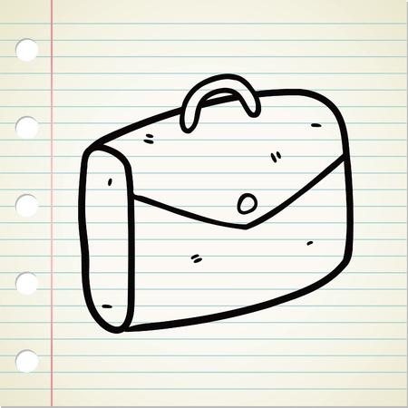 briefcase doodle Vector