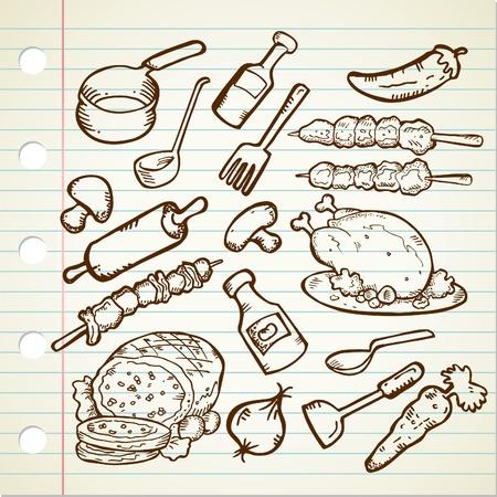 utensilios de cocina: alimentos y utensilios de cocina
