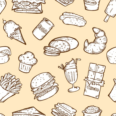 food seamless pattern Stock Vector - 13138056