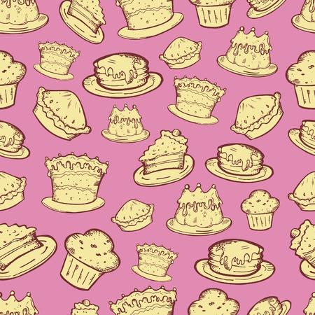 tarta de manzana: alimentos sin fisuras patr�n Vectores