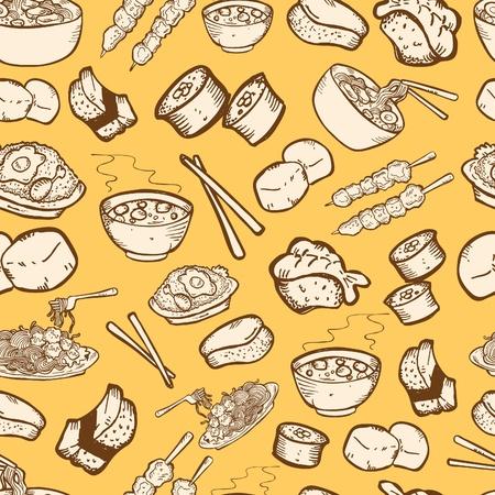 élelmiszer seamless pattern