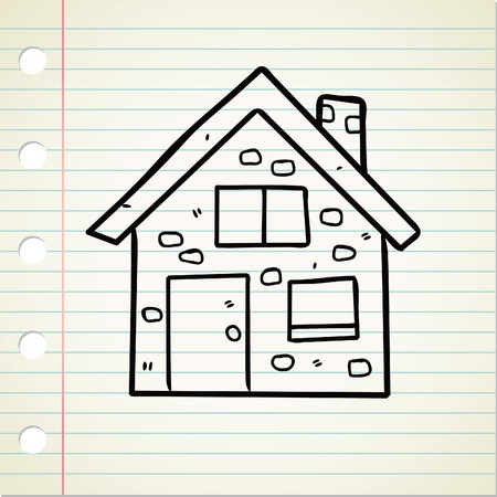 house drawing: house doodle