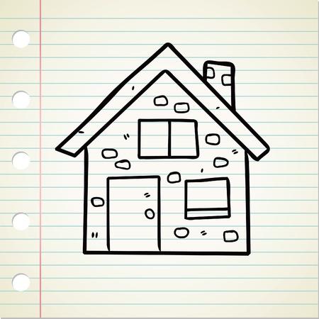 modern huis: huis doodle