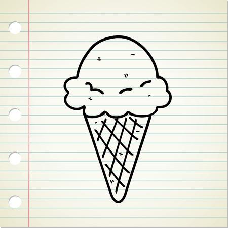la crème glacée doodle Vecteurs