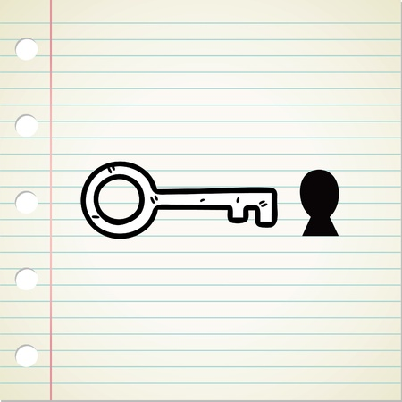 key and hole doodle Stock Vector - 13120530
