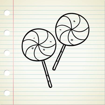 lollipop doodle Stock Vector - 13120534