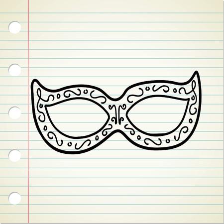 masquerade mask: mask doodle Illustration
