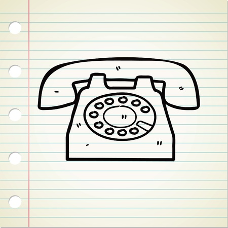 telephone doodle Stock Vector - 13120535